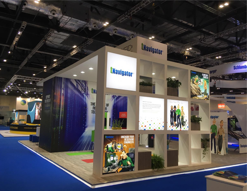 Bespoke exhibition stand for tNavigator